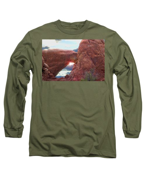 Long Sleeve T-Shirt featuring the digital art Star Arch by Gary Baird