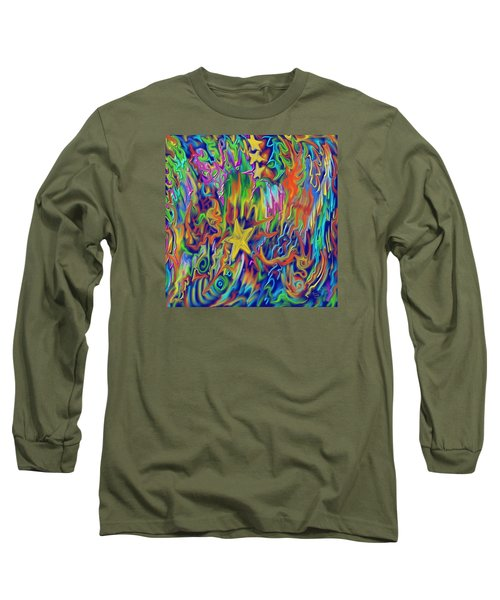 Long Sleeve T-Shirt featuring the painting Star E Nite by Kevin Caudill