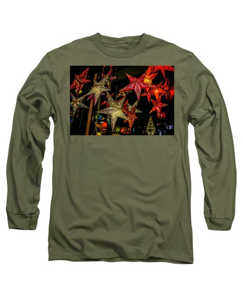 Long Sleeve T-Shirt featuring the photograph Star Lights by Lora Lee Chapman