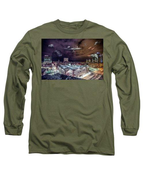 Long Sleeve T-Shirt featuring the photograph Star Wars Detroit by Nicholas Grunas