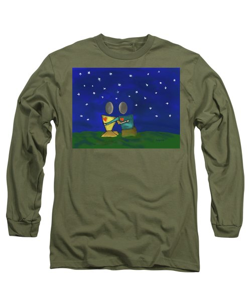 Star Watching Long Sleeve T-Shirt by Haleh Mahbod