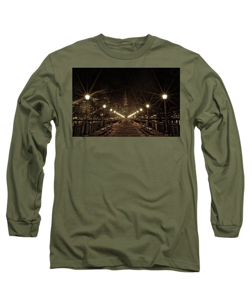 Long Sleeve T-Shirt featuring the photograph Starburst Lights by Chris Cousins