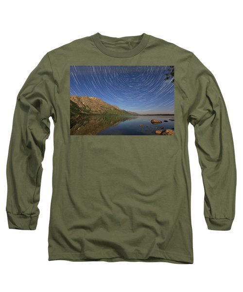 Startrails Over Jenny Lake Long Sleeve T-Shirt
