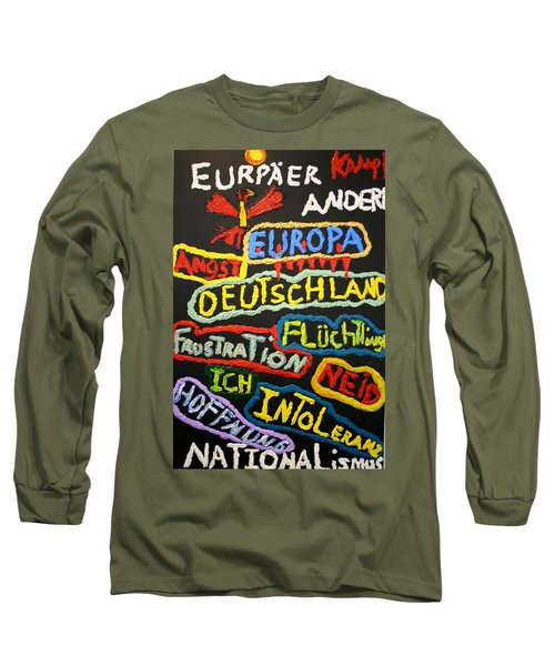 State Of Europe Long Sleeve T-Shirt by Darrell Black