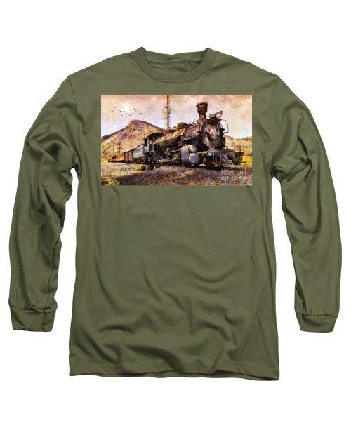 Steam Locomotive Long Sleeve T-Shirt by Ian Mitchell