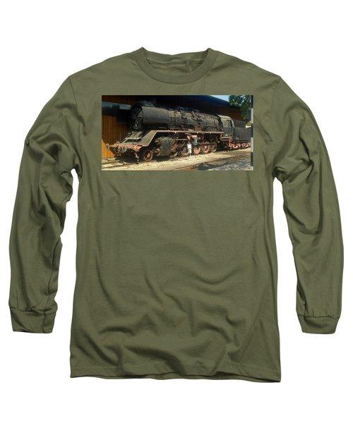 Steam Train  Long Sleeve T-Shirt by Pierre Van Dijk