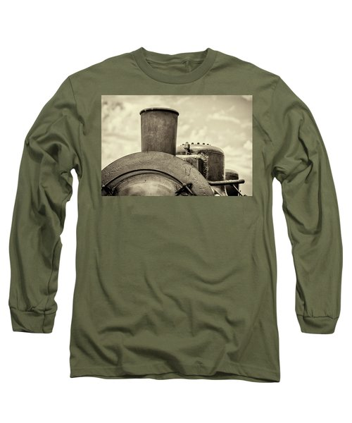 Long Sleeve T-Shirt featuring the photograph Steam Train Series No 2 by Clare Bambers