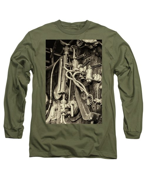 Long Sleeve T-Shirt featuring the photograph Steam Train Series No 36 by Clare Bambers