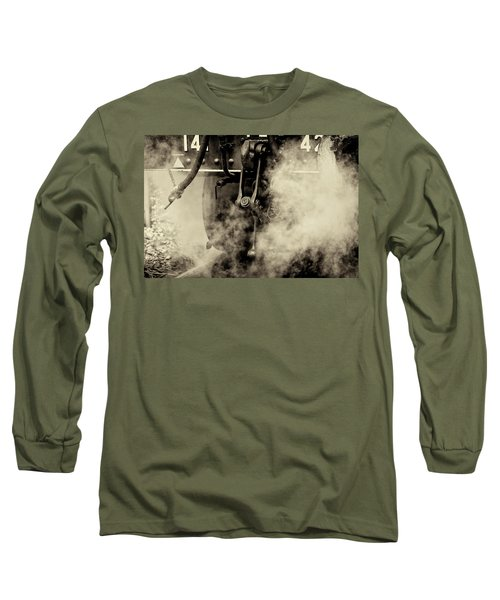 Long Sleeve T-Shirt featuring the photograph Steam Train Series No 4 by Clare Bambers