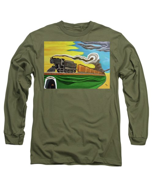 Steaming West Bound Long Sleeve T-Shirt by Margaret Harmon