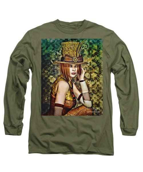 Steampunk Girl Two Long Sleeve T-Shirt