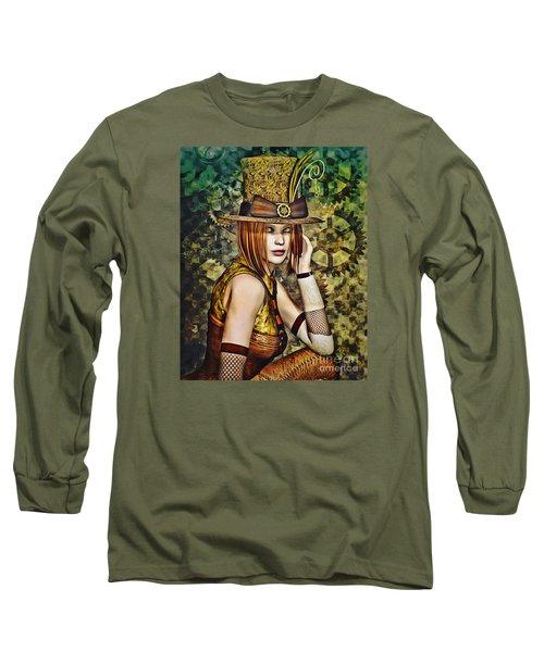 Steampunk Girl Two Long Sleeve T-Shirt