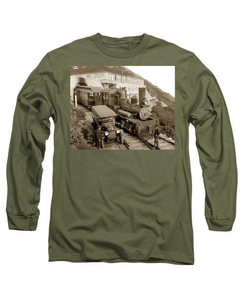 Stean Engine No. 8 Mount Tamalpais Circa 1920 Long Sleeve T-Shirt
