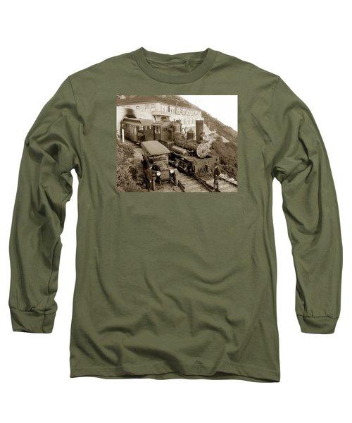 Stean Engine No. 8 Mount Tamalpais Circa 1920 Long Sleeve T-Shirt