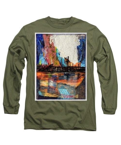 Steel Mills At Night Long Sleeve T-Shirt