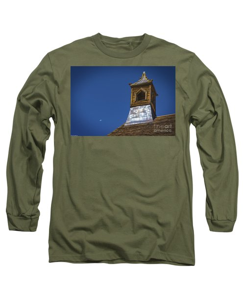 Long Sleeve T-Shirt featuring the photograph Steeple And Moon by Mitch Shindelbower