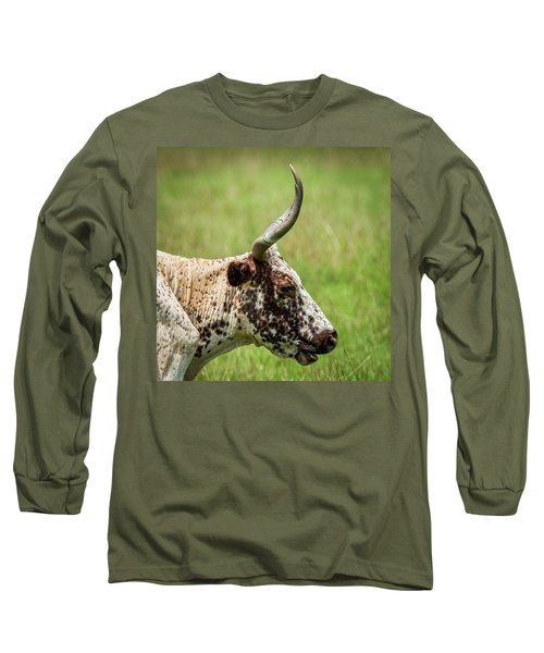 Long Sleeve T-Shirt featuring the photograph Steer Portrait by Paul Freidlund