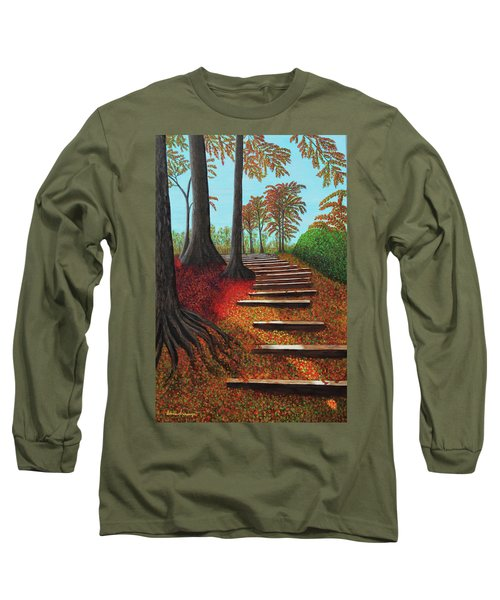 Almost There Long Sleeve T-Shirt by Donna Manaraze