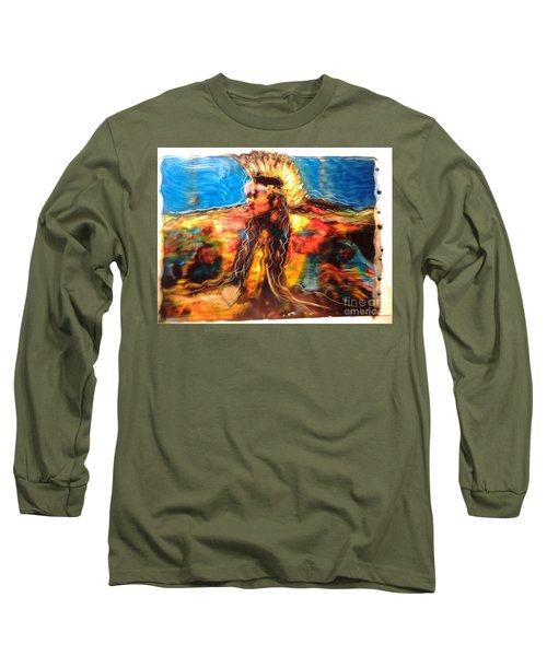 Long Sleeve T-Shirt featuring the painting Stepping Into The Soul by FeatherStone Studio Julie A Miller