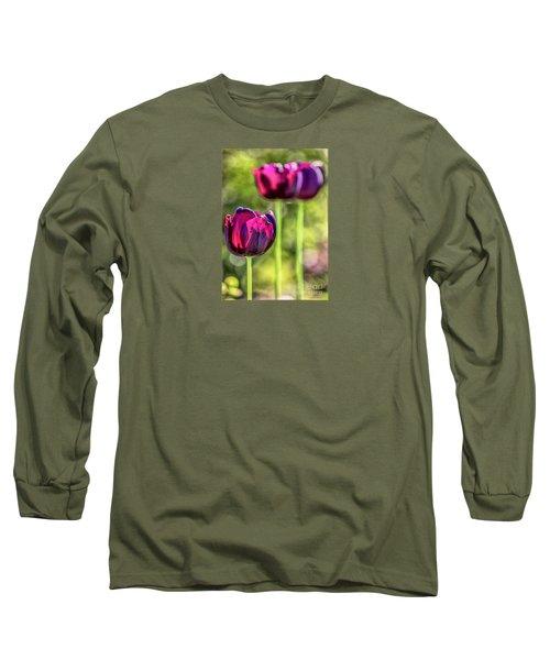 Stepping Out Long Sleeve T-Shirt by Jean OKeeffe Macro Abundance Art