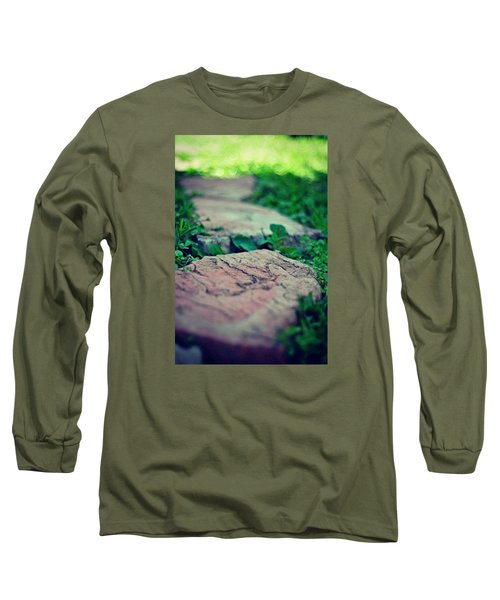 Stepping Stones Long Sleeve T-Shirt by Artists With Autism Inc