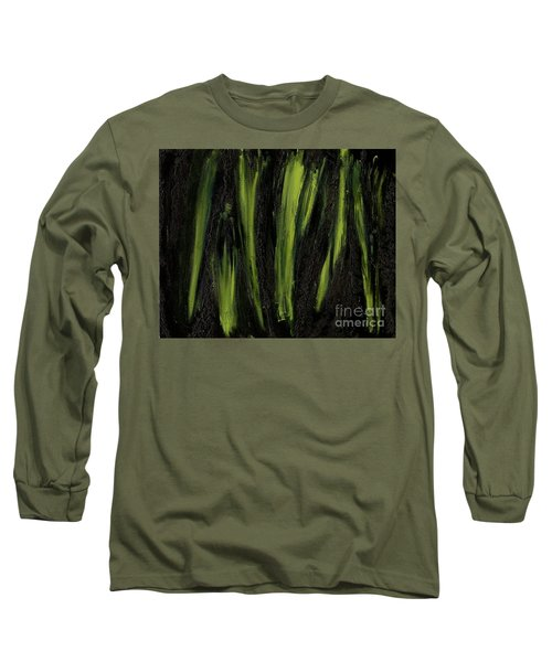 Stepping Through Mens Blades Of Mars Long Sleeve T-Shirt by Talisa Hartley