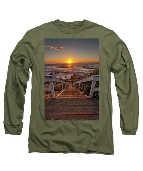 Steps To The Sun  Long Sleeve T-Shirt by Peter Tellone
