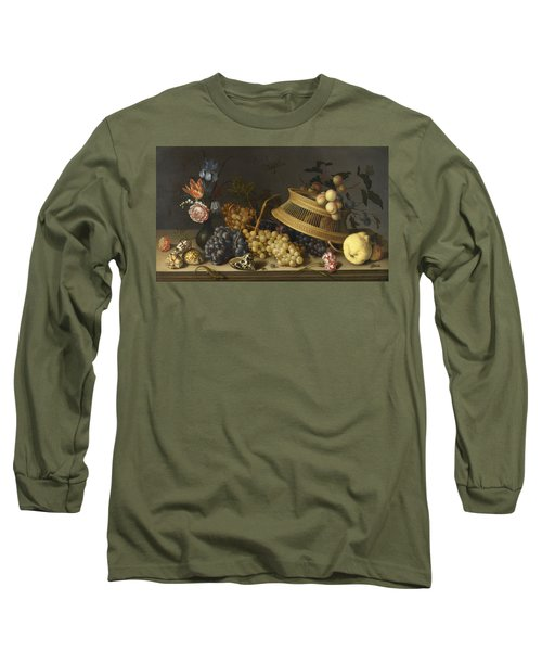 Still Life Of Flowers, Fruit, Shells, And Insectsabout 1629 Long Sleeve T-Shirt
