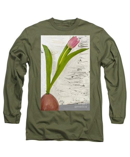 Still Life Tulip Long Sleeve T-Shirt by Marsha Heiken