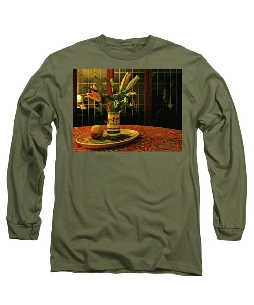 Long Sleeve T-Shirt featuring the photograph Still Life With Apple by Anne Kotan