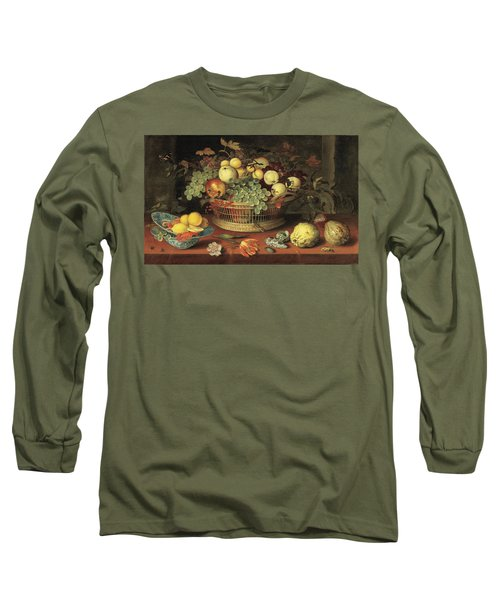 Still Life With Basket Of Fruit1622 Long Sleeve T-Shirt