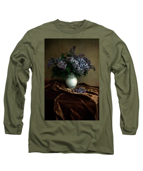 Long Sleeve T-Shirt featuring the photograph Still Life With Bouqet Of Fresh Lilac by Jaroslaw Blaminsky