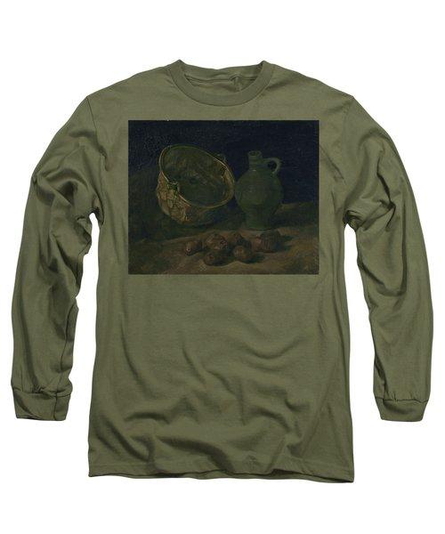Still Life With Brass Cauldron And Jug, 1885 Long Sleeve T-Shirt