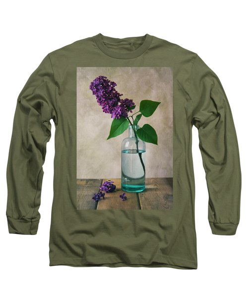 Long Sleeve T-Shirt featuring the photograph Still Life With Fresh Lilac by Jaroslaw Blaminsky