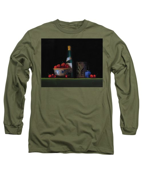 Still Life With The Alsace Jug Long Sleeve T-Shirt by Barry Williamson