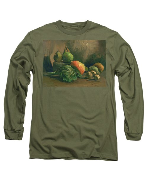 Still Life With Vegetables And Fruit, 1884 Long Sleeve T-Shirt