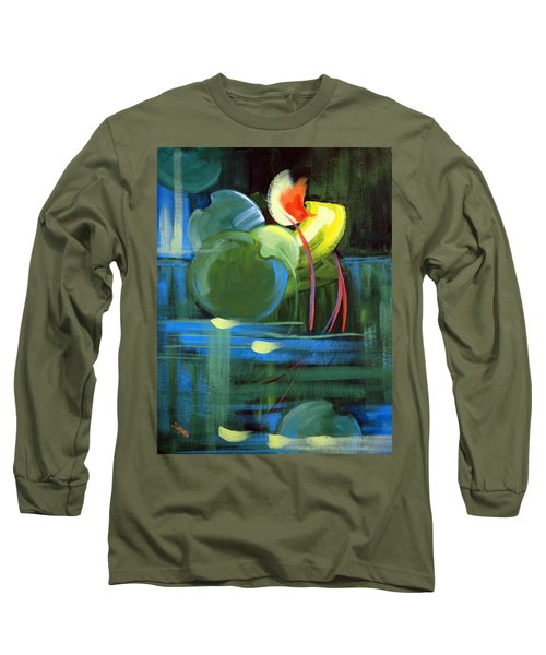 Long Sleeve T-Shirt featuring the painting Still Water by Suzanne McKee