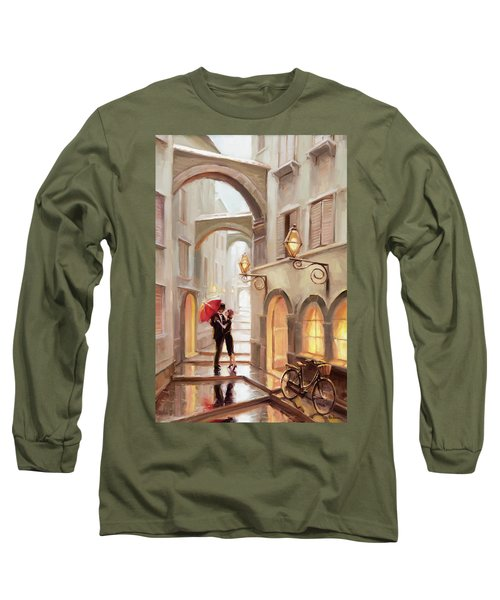 Long Sleeve T-Shirt featuring the painting Stolen Kiss by Steve Henderson