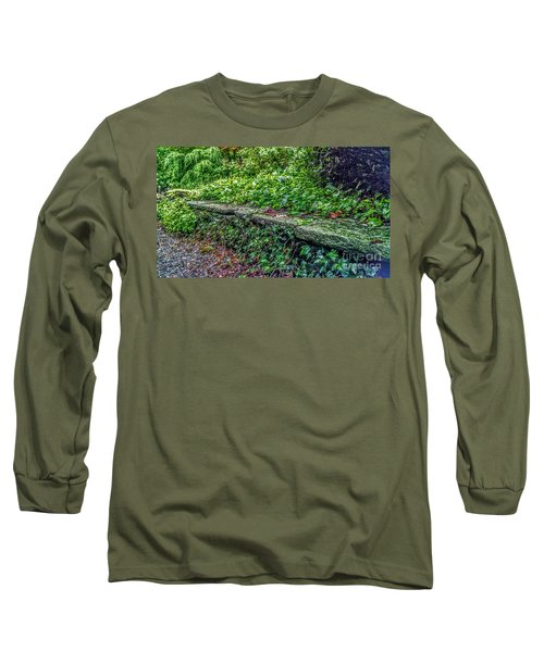 Stone Wall At Laurelwood Long Sleeve T-Shirt