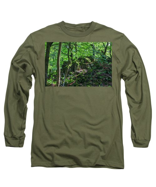 Stones In A Forest In Vogelsberg Long Sleeve T-Shirt