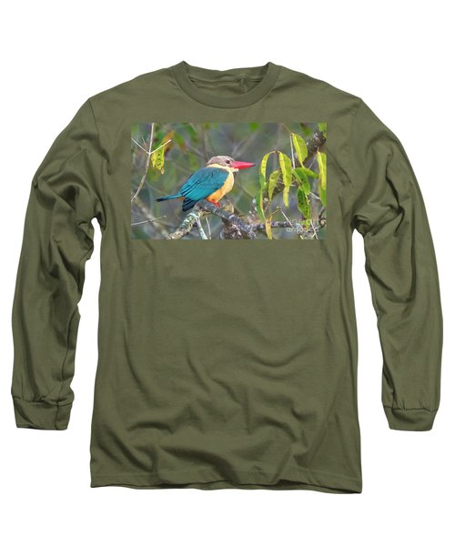 Stork-billed Kingfisher Long Sleeve T-Shirt