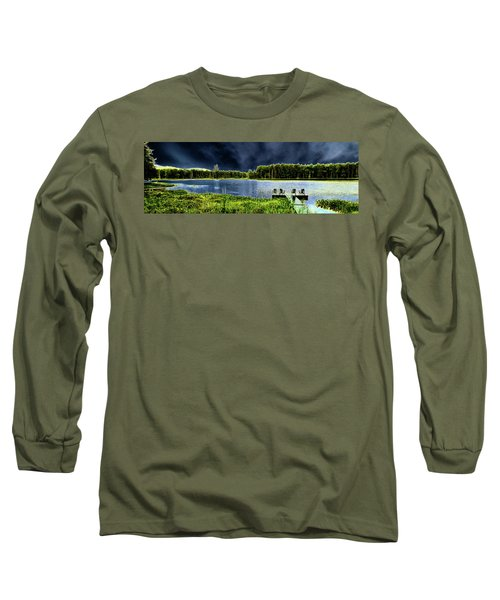 Long Sleeve T-Shirt featuring the photograph Storm Approaching The Pond by David Patterson