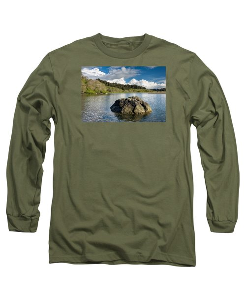 Storm Clearing On The Little River Long Sleeve T-Shirt by Greg Nyquist