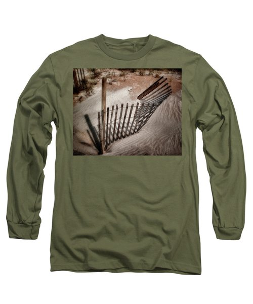 Storm Fence Series No. 2 Long Sleeve T-Shirt by John Pagliuca
