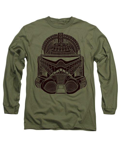 Stormtrooper Helmet - Star Wars Art - Brown  Long Sleeve T-Shirt