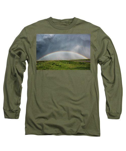 Long Sleeve T-Shirt featuring the photograph Stormy Rainbow by Ryan Crouse
