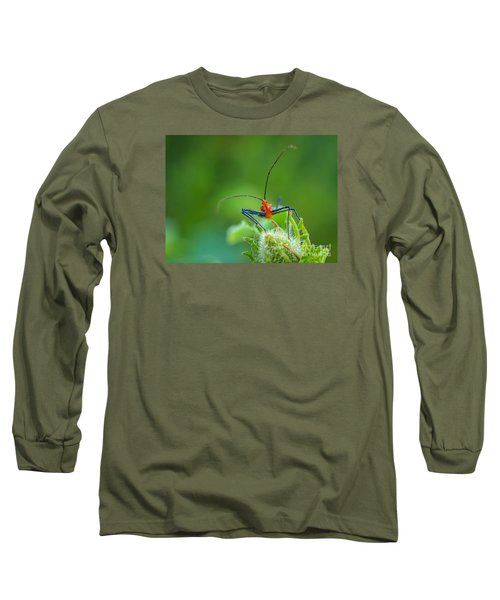 Straight In The Eye Look  Long Sleeve T-Shirt by Tom Claud