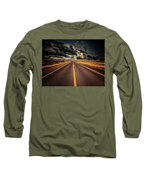 Straight Lines  ... Long Sleeve T-Shirt by Chuck Caramella