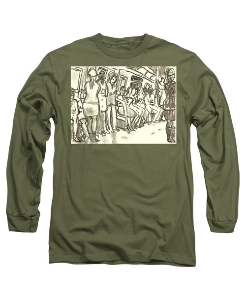 Strap Hangers, Nyc Subway Long Sleeve T-Shirt