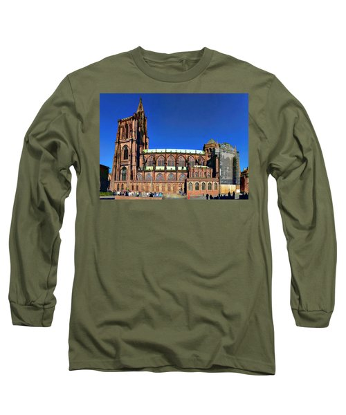 Long Sleeve T-Shirt featuring the photograph Strasbourg Catheral by Alan Toepfer